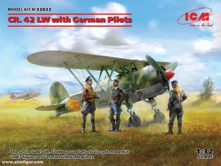 """CR.42 """"Luftwaffe"""" mit Piloten"""
