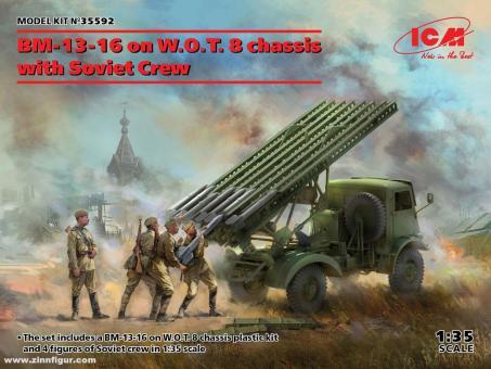 BM-13-16 auf W.O.T.8 Chassis mit Figuren