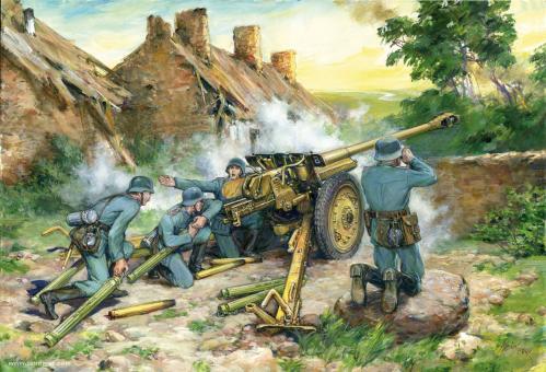 7,62 cm Pak 36(r) with Crew