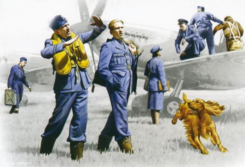 RAF Piloten und Bodenpersonal