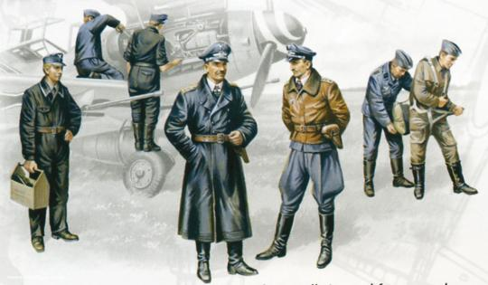 Luftwaffe Piloten und Bodenpersonal