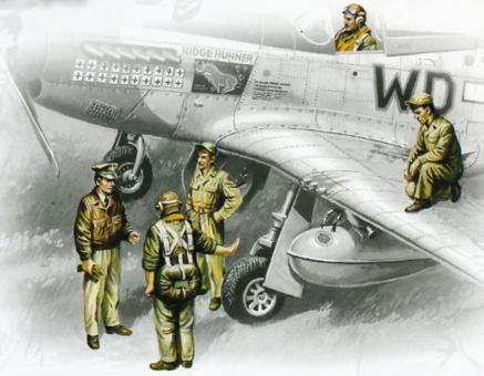 USAAF Piloten und Bodenpersonal