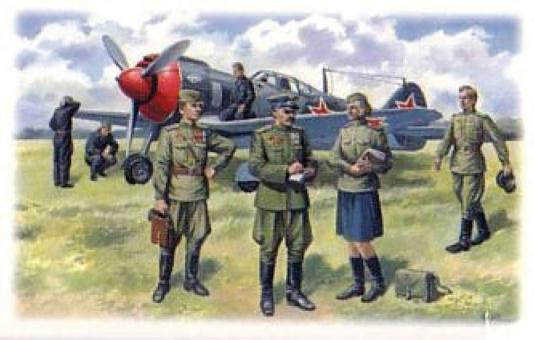 Sowjetische Piloten & Bodenpersonal
