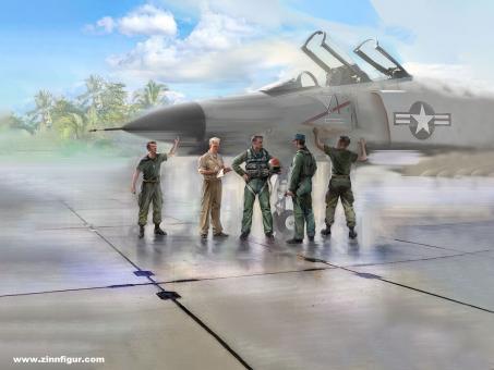 US Piloten und Bodenpersonal - Vietnamkrieg