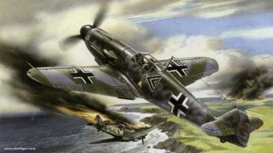 Bf 109F-2 Jagdflugzeug