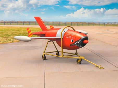 Q-2A (AQM-34B) Firebee Drone mit Anhänger