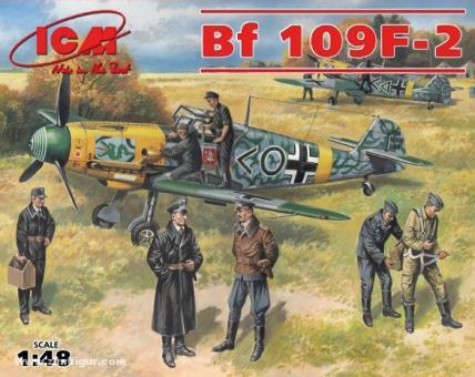Bf 109F-2 mit Piloten und Bodenpersonal