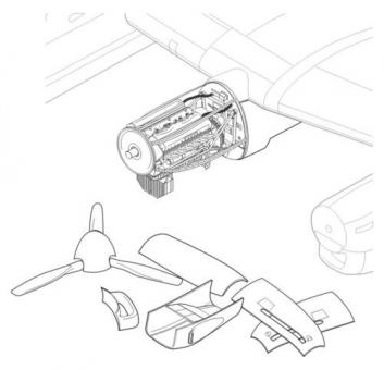 Lancaster Mk.I/III Motor-Detailset