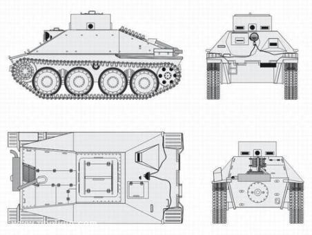 Jagdpanzer 38 Hetzer Schulpanzer Umbausatz