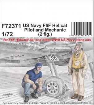 US Navy F6F Hellcat Pilot und Mechaniker