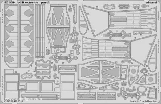 A-1D Skyraider Außendetails