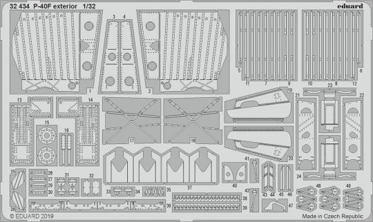 P-40F Außendetails
