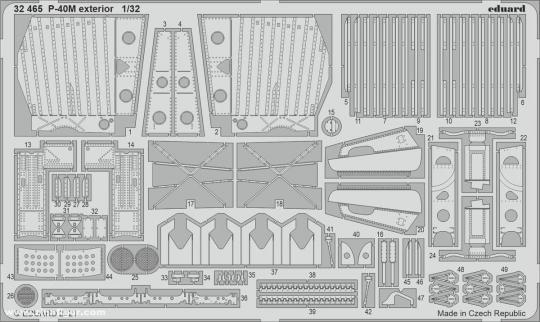 P-40M - Außendetails