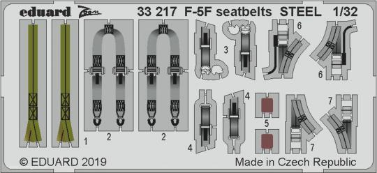 F-5F Gurte (Stahl)