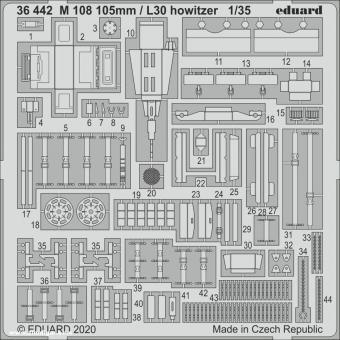 M108 105 mm/L30 Haubitze