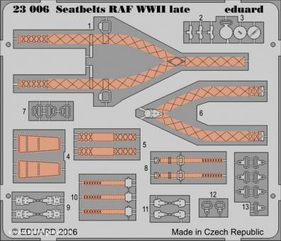 Seatbelts RAF WW2 late  1/24