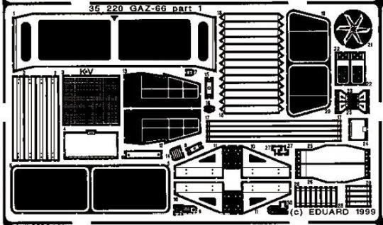 Gaz-66 Detailbausatz