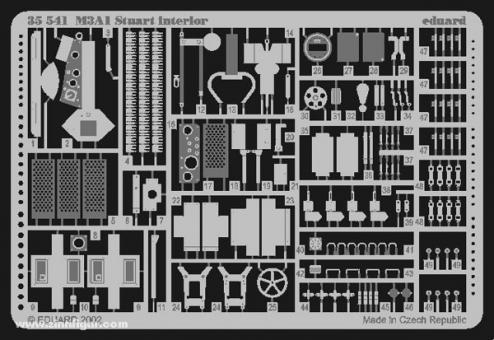 M3A1 Stuart Innendetails