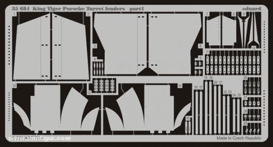 Sd.Kfz. 182 Königstiger Porsche Turm Schürzen
