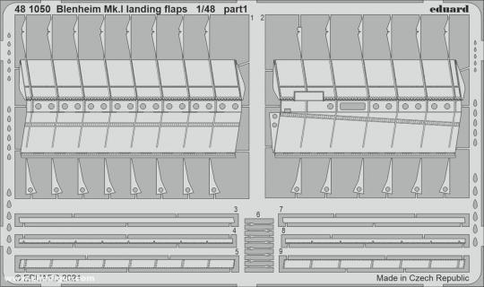 Blenheim Mk.I Landeklappen