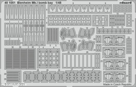 Blenheim Mk.I Bombenschachtdetails