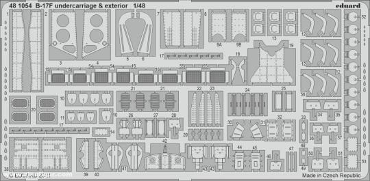 B-17F Fahrwerk & Außendetails