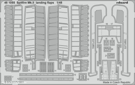 Spitfire Mk.II Landeklappen
