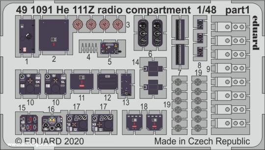 He 111Z Funkraum Innendetails