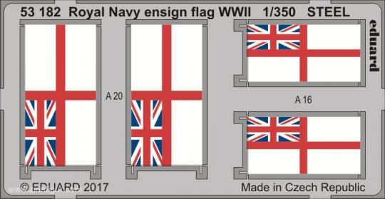 Royal Navy Flaggen - 2. Weltkrieg - (Stahl)