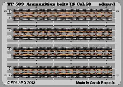 Ammunition belts US Cal.50, koloriert