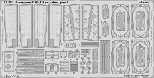 Lancaster B.III Außendetails