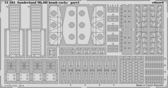 Sunderland Mk.III Bombenhalterungen