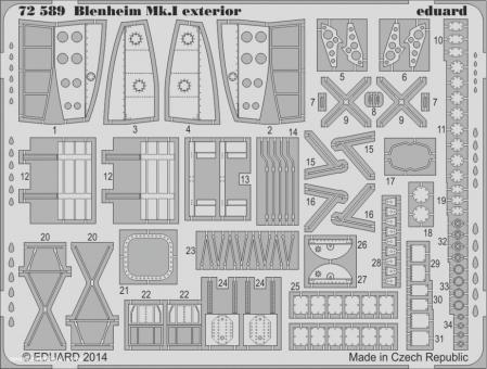 Blenheim Mk.I Außendetails