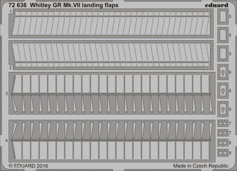 Whitley GR Mk.VII Landeklappen