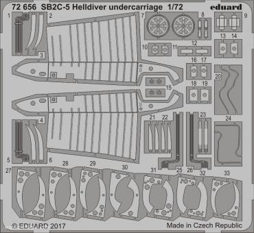 SB2C-5 Helldiver Fahrwerkdetails