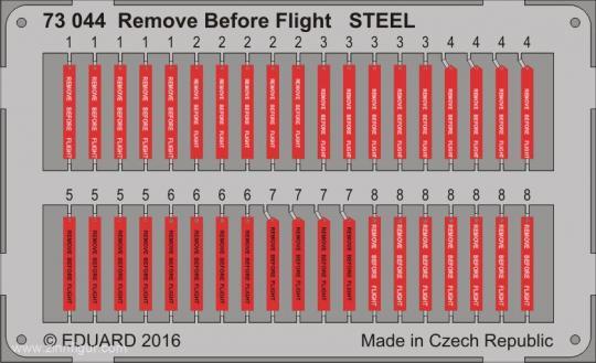 Remove Before Flight - Stahl