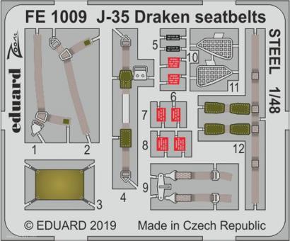 J-35 Draken Gurte (Stahl)