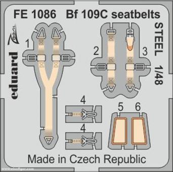 Bf 109C Gurte (Stahl)