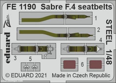 Sabre F.4 Gurte (Stahl)
