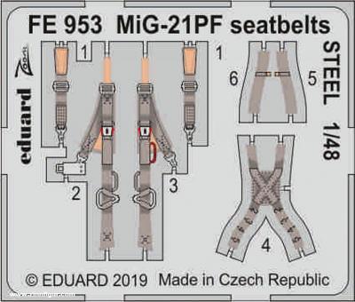 MiG-21PF Gurte (Stahl)