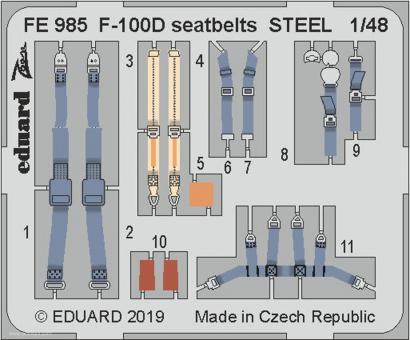 F-100D Gurte (Stahl)