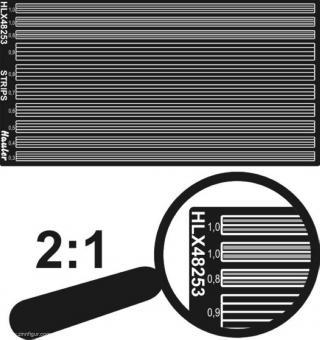 Streifen 0,3 - 1,0 mm