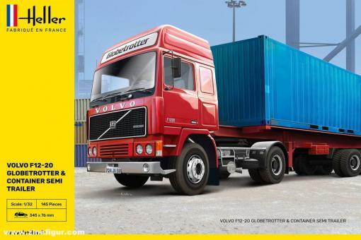 Volvo F12-20 Globetrotter & Container-Auflieger