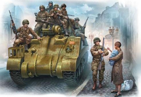 US Fallschirmjäger 101st Light Company & Britischer Panzersoldat
