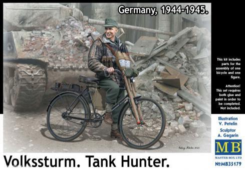 Deutscher Soldat mit Fahrrad