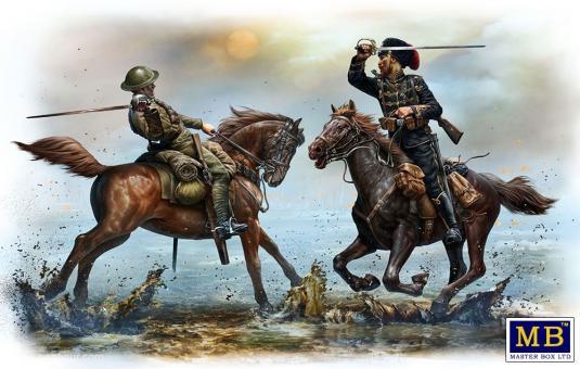 British and German Cavalrymen - WWI