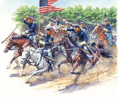 Angriff der 8. Pennsylvania Kavallerie