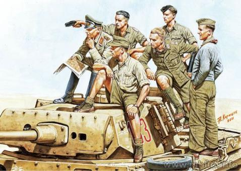 Rommel and German Tank Crew DAK