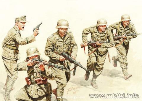 DAK German Infantry, North Africa Set 3