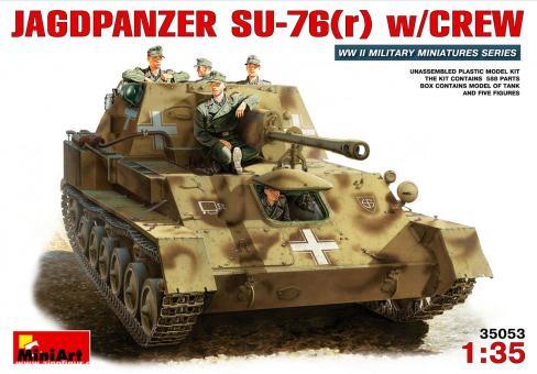Deutscher Su-76(r) Jagdpanzer mit Besatzung